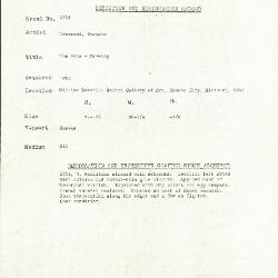 Image for K1958 - Condition and restoration record, circa 1950s-1960s