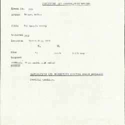 Image for K1923 - Condition and restoration record, circa 1950s-1960s