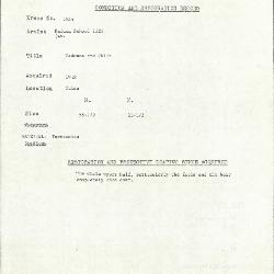 Image for K1935 - Condition and restoration record, circa 1950s-1960s