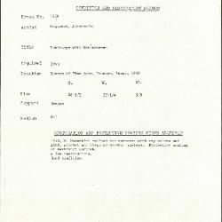 Image for K1936 - Condition and restoration record, circa 1950s-1960s
