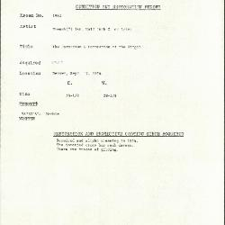 Image for K1961 - Condition and restoration record, circa 1950s-1960s