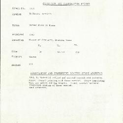 Image for K1914 - Condition and restoration record, circa 1950s-1960s