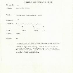 Image for K1949 - Condition and restoration record, circa 1950s-1960s