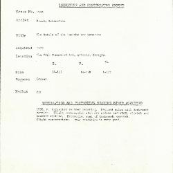 Image for K1955 - Condition and restoration record, circa 1950s-1960s