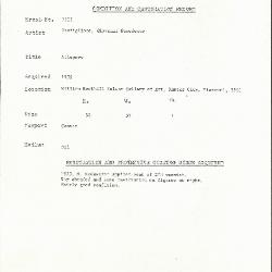 Image for K1933 - Condition and restoration record, circa 1950s-1960s