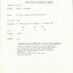 Image for K1952 - Condition and restoration record, circa 1950s-1960s