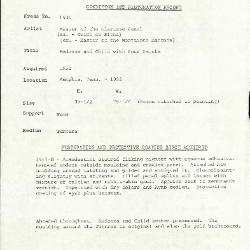 Image for K1930 - Condition and restoration record, circa 1950s-1960s