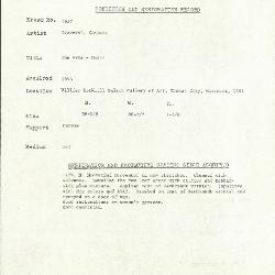 Image for K1957 - Condition and restoration record, circa 1950s-1960s