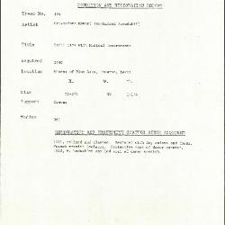 Image for K0194 - Condition and restoration record, circa 1950s-1960s