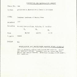 Image for K1984 - Condition and restoration record, circa 1950s-1960s