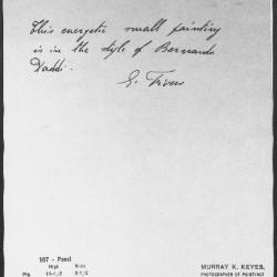 Image for K0197 - Expert opinion by Fiocco, circa 1930s-1940s