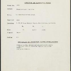 Image for K1973 - Condition and restoration record, circa 1950s-1960s