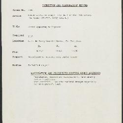 Image for K1995 - Condition and restoration record, circa 1950s-1960s