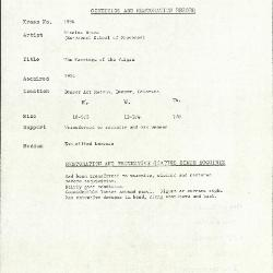 Image for K1996 - Condition and restoration record, circa 1950s-1960s