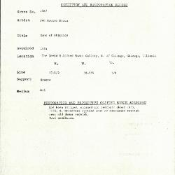 Image for K1987 - Condition and restoration record, circa 1950s-1960s