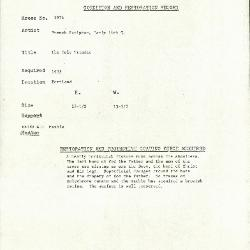 Image for K1974 - Condition and restoration record, circa 1950s-1960s