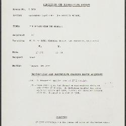 Image for K2056 - Condition and restoration record, circa 1950s-1960s