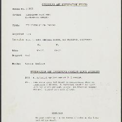 Image for K2055 - Condition and restoration record, circa 1950s-1960s