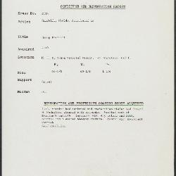 Image for K2036 - Condition and restoration record, circa 1950s-1960s