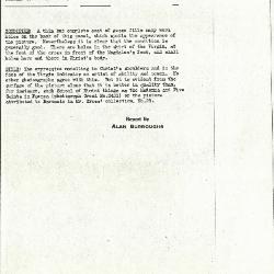 Image for K0201 - Alan Burroughs report, circa 1930s-1940s
