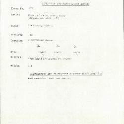 Image for K2034 - Condition and restoration record, circa 1950s-1960s