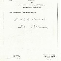 Image for K0204 - Expert opinion by Berenson, circa 1920s-1950s