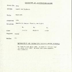 Image for K2059 - Condition and restoration record, circa 1950s-1960s