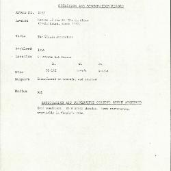 Image for K2035 - Condition and restoration record, circa 1950s-1960s