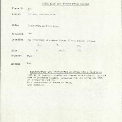 Image for K2069 - Condition and restoration record, circa 1950s-1960s