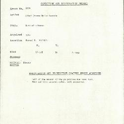 Image for K2079 - Condition and restoration record, circa 1950s-1960s