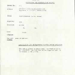 Image for K2113 - Condition and restoration record, circa 1950s-1960s