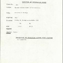 Image for K2097 - Condition and restoration record, circa 1950s-1960s