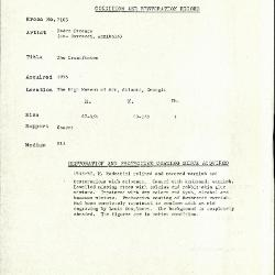 Image for K2105 - Condition and restoration record, circa 1950s-1960s
