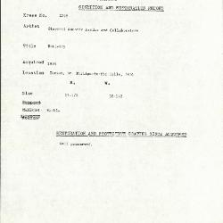 Image for K2096 - Condition and restoration record, circa 1950s-1960s