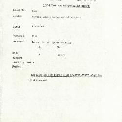 Image for K2095 - Condition and restoration record, circa 1950s-1960s