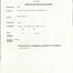 Image for K2094 - Condition and restoration record, circa 1950s-1960s