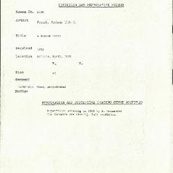 Image for K2100 - Condition and restoration record, circa 1950s-1960s