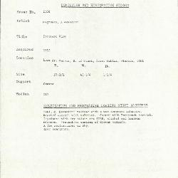 Image for K2106 - Condition and restoration record, circa 1950s-1960s