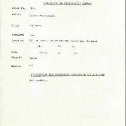 Image for K2116 - Condition and restoration record, circa 1950s-1960s
