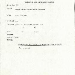 Image for K2099 - Condition and restoration record, circa 1950s-1960s