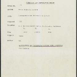 Image for K2120 - Condition and restoration record, circa 1950s-1960s