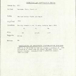 Image for K2151 - Condition and restoration record, circa 1950s-1960s