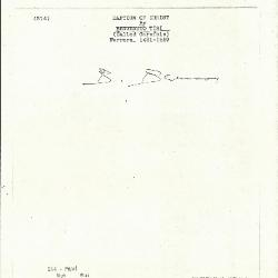 Image for K0214 - Expert opinion by Berenson, circa 1920s-1950s