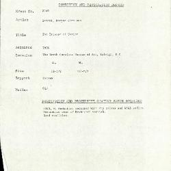 Image for K2149 - Condition and restoration record, circa 1950s-1960s