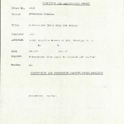 Image for K2158 - Condition and restoration record, circa 1950s-1960s