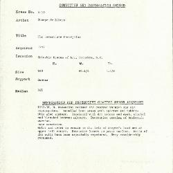 Image for K2160 - Condition and restoration record, circa 1950s-1960s
