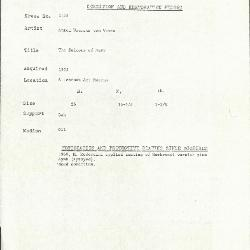 Image for K2128 - Condition and restoration record, circa 1950s-1960s