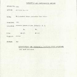 Image for K2148 - Condition and restoration record, circa 1950s-1960s