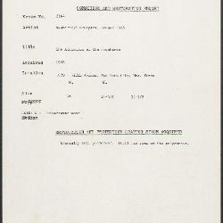 Image for K2164 - Condition and restoration record, circa 1950s-1960s