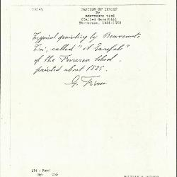 Image for K0214 - Expert opinion by Fiocco, circa 1930s-1940s